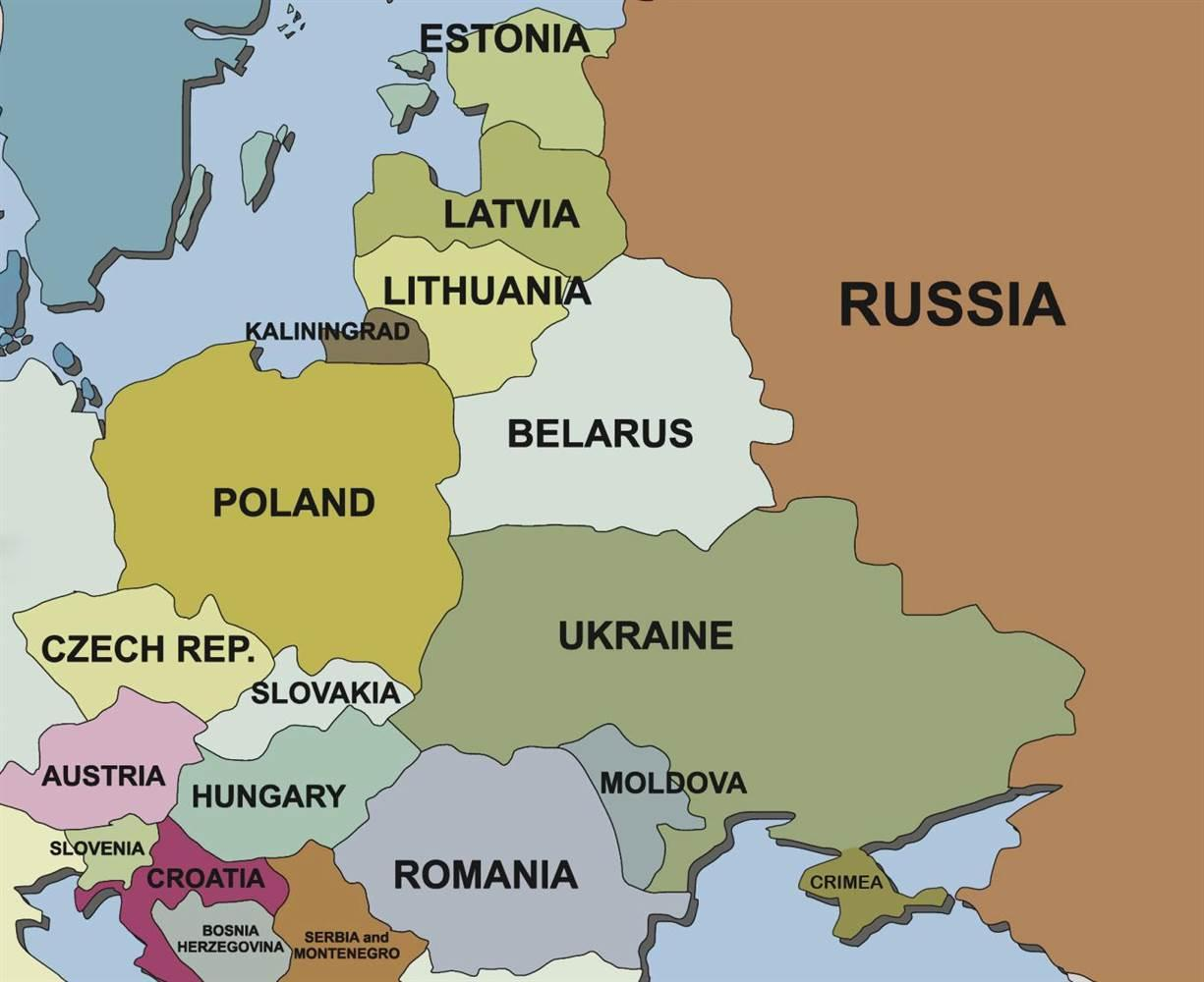 Karta Over Slovenien Och Angransande Lander Karta Over Slovenien